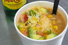Add an 8 oz cup of our Chicken Tortilla Soup to your Meal. Includes Cheese, Tortilla Strips and Avocado.